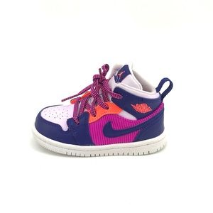 Jordan 1 Mid Sneakers Fire Pink Infant Shoes Baby